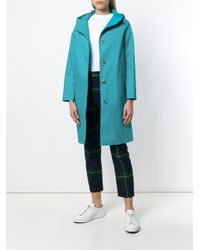 Mackintosh - Blue Hooded Raincoat - Lyst