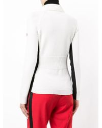 Moncler Grenoble - White Contrast Colour Sweater - Lyst