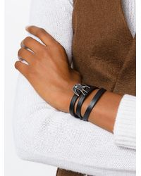 McQ Alexander McQueen - Black Swallow Bracelet - Lyst