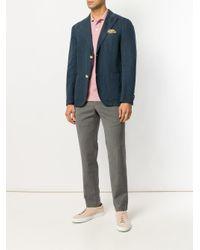 PT01 - Gray Creased Straight Leg Trousers for Men - Lyst