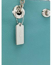 COACH Blue Turnlock Tote Bag