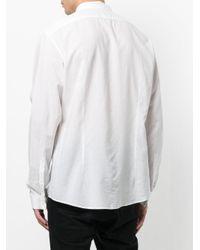 John Varvatos - White Stand Up Collar Shirt for Men - Lyst