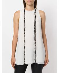 Ann Demeulemeester - Black Long Beaded Necklace - Lyst