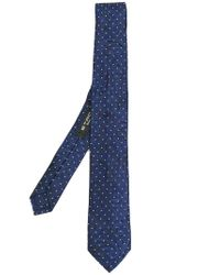 Etro Blue Polka-dot Tie for men