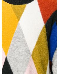 KENZO - Multicolor Argyle Jumper for Men - Lyst