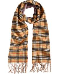 Burberry - Multicolor Cashmere Double Faced Check Scarf for Men - Lyst