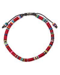 M. Cohen   Brown Beaded Bracelet for Men   Lyst