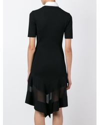 Givenchy - Black Sheer Panel Dress - Lyst