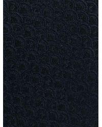 Valentino Blue Woven Tie for men