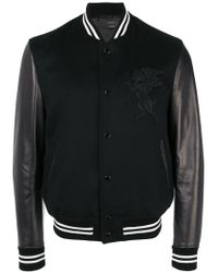 Alexander McQueen - Black Winged Lion Bomber Jacket for Men - Lyst