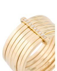 Lizzie Mandler - Metallic 18kt Gold '7 Day' Ring With Diamonds - Lyst