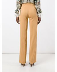 Etro - Natural Straight Trousers - Lyst