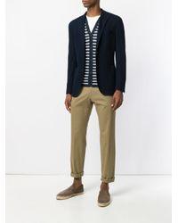 Etro - Blue Striped V-neck Cardigan for Men - Lyst