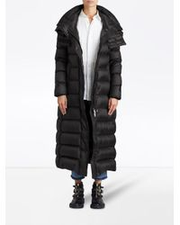 Burberry - Black Long Puffer Coat - Lyst