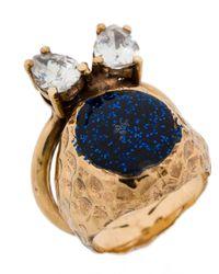 Voodoo Jewels - Metallic Studded Glitter Ring - Lyst
