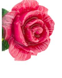 Dolce & Gabbana - Pink Rose Clip-on Earrings - Lyst