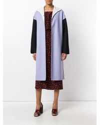 Marni Purple Colour Blocked Coat