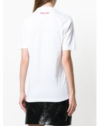DSquared² - White Caten Print T-shirt - Lyst