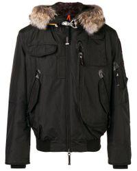 Parajumpers - Black Fur Trimmed Jacket for Men - Lyst