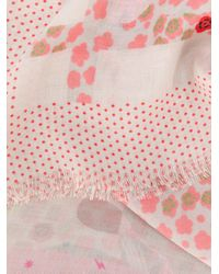 Zadig & Voltaire - Pink Long Patterned Scarf - Lyst