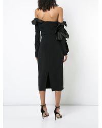 Cushnie et Ochs - Black Ruffled Dress - Lyst