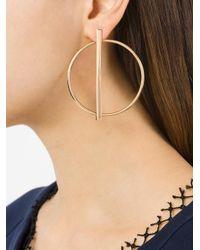 Eshvi - Metallic Hoop Earrings - Lyst