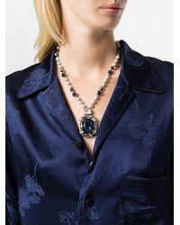 Max Mara - Metallic Lavagna Bead Necklace - Lyst