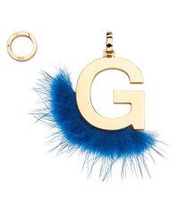 Fendi - Blue Abclick G Pendant Charm - Lyst