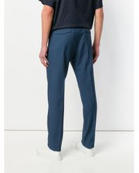Prada - Blue Classic Tailored Trousers for Men - Lyst
