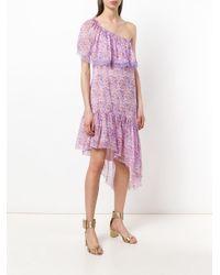 Blumarine - Pink Asymmetric Floral Dress - Lyst