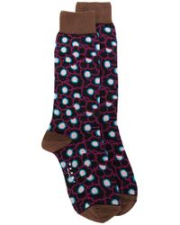 Marni - Blue Floral Patterned Socks - Lyst