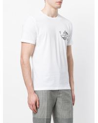 Emporio Armani - White Mixed-print T-shirt for Men - Lyst