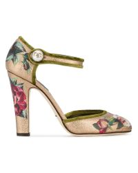 Dolce & Gabbana | Multicolor Hand Painted Mary Jane Pumps | Lyst
