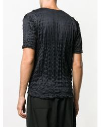 Issey Miyake - Black T-shirt à effet froissé for Men - Lyst