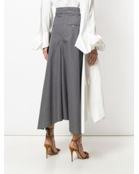 Awake - White Cropped Wide-leg Trousers - Lyst