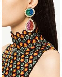 Shourouk - Multicolor Shimmer Drop Earrings - Lyst