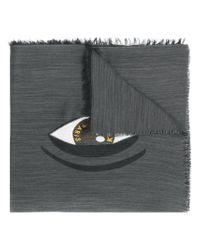 KENZO - Gray World Scarf - Lyst