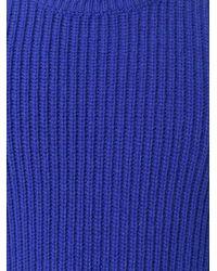 Etudes Studio - Blue Ribbed Jumper for Men - Lyst
