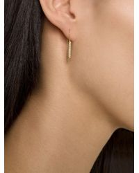 Ileana Makri - Metallic Diamond Drop Chain Earrings - Lyst