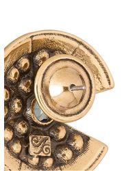 Camila Klein - Metallic Strass Embellished Earrings - Lyst