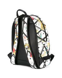 MCM - White Printed Backpack for Men - Lyst