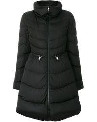 Moncler - Black Flammette Padded Coat - Lyst