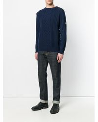G-Star RAW - Blue Contrast Back Sweater for Men - Lyst
