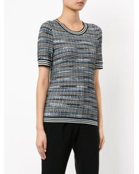 Missoni - Black Checked Knitted Top - Lyst