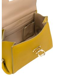 Ferragamo - Yellow Small Sofia Tote - Lyst
