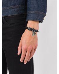 Alexander McQueen - Black Studded Skull Bracelet for Men - Lyst