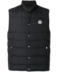 Moncler | Black Febe Padded Gilet for Men | Lyst
