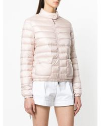 Moncler - Pink Zipped Fitted Padded Jacket - Lyst