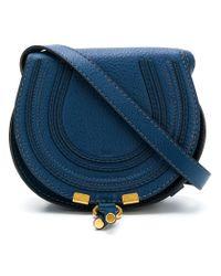 Chloé - Blue Mini Marcie Bag - Lyst