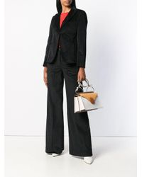 L'Autre Chose - Black Flared Suit Trousers - Lyst